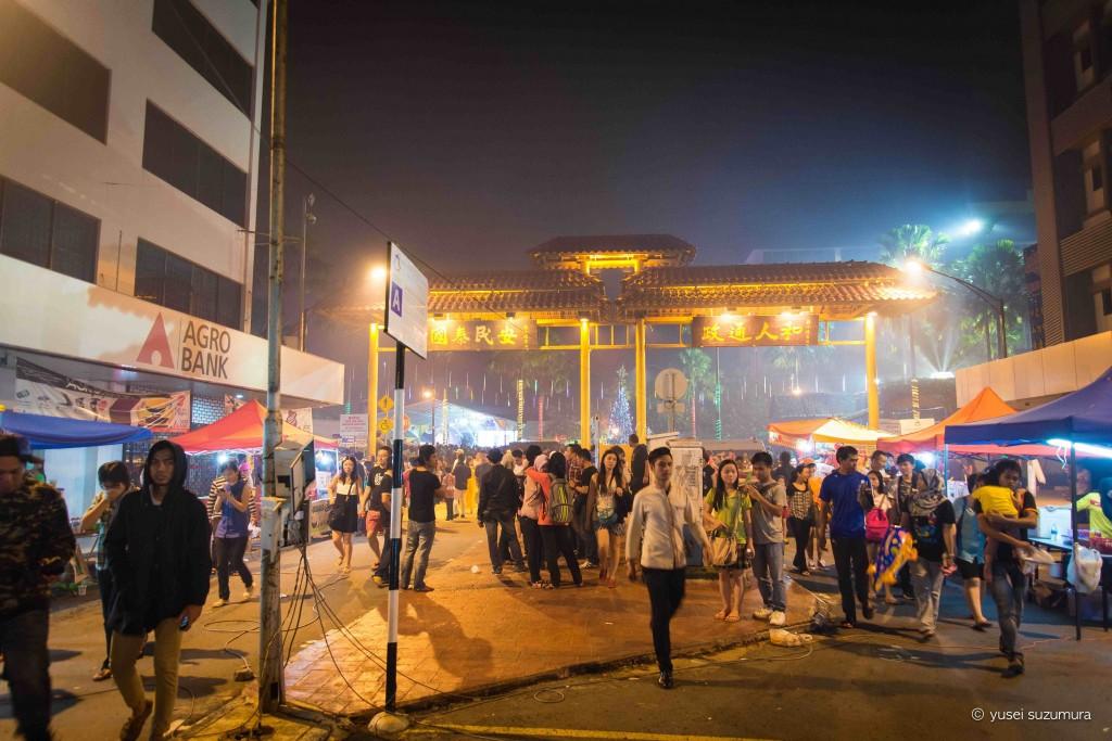 コタキナバルの新年の花火の後
