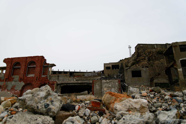 実現した軍艦島観光。007スカイフォールのロケ地へ。