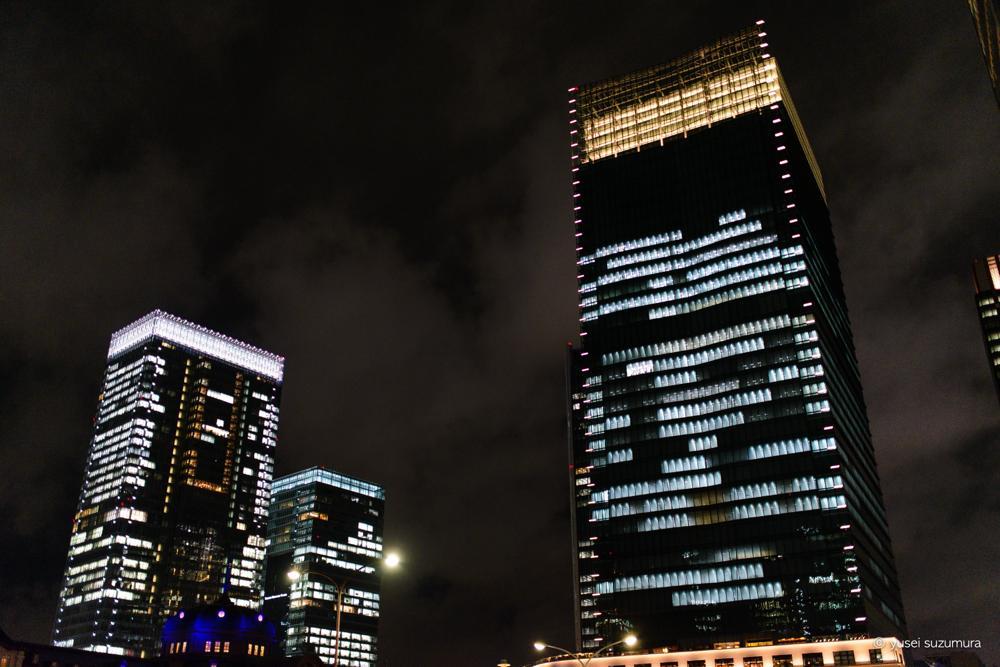 東京駅のビル群