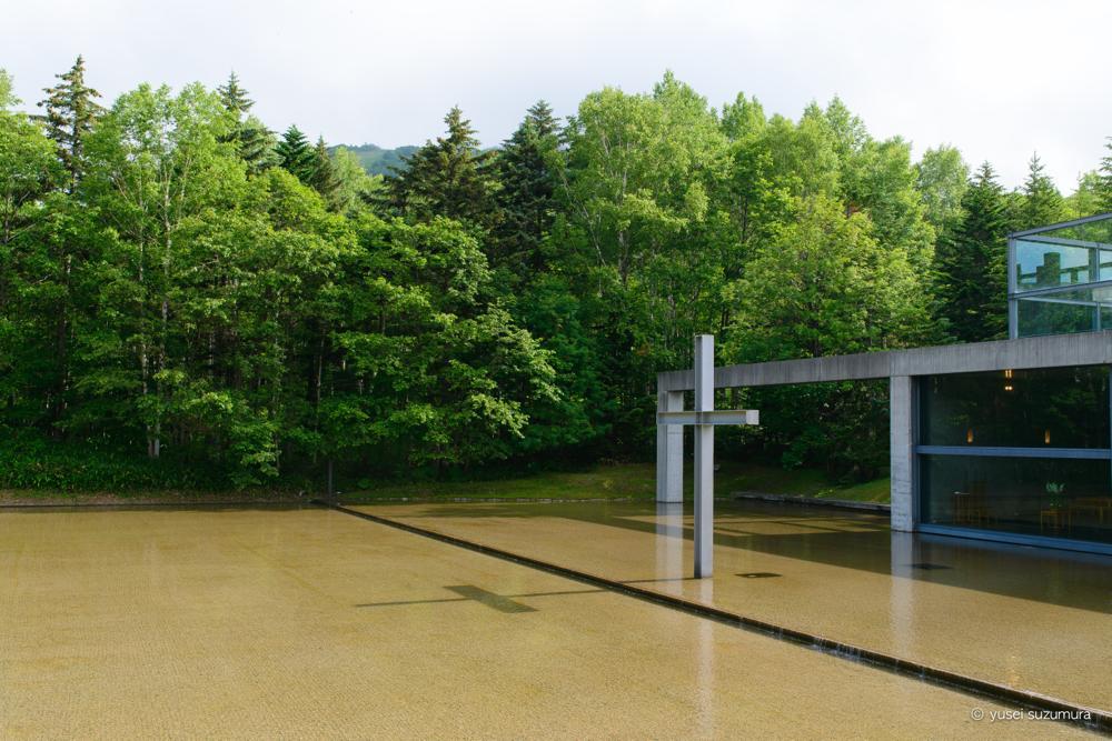 水の教会 朝