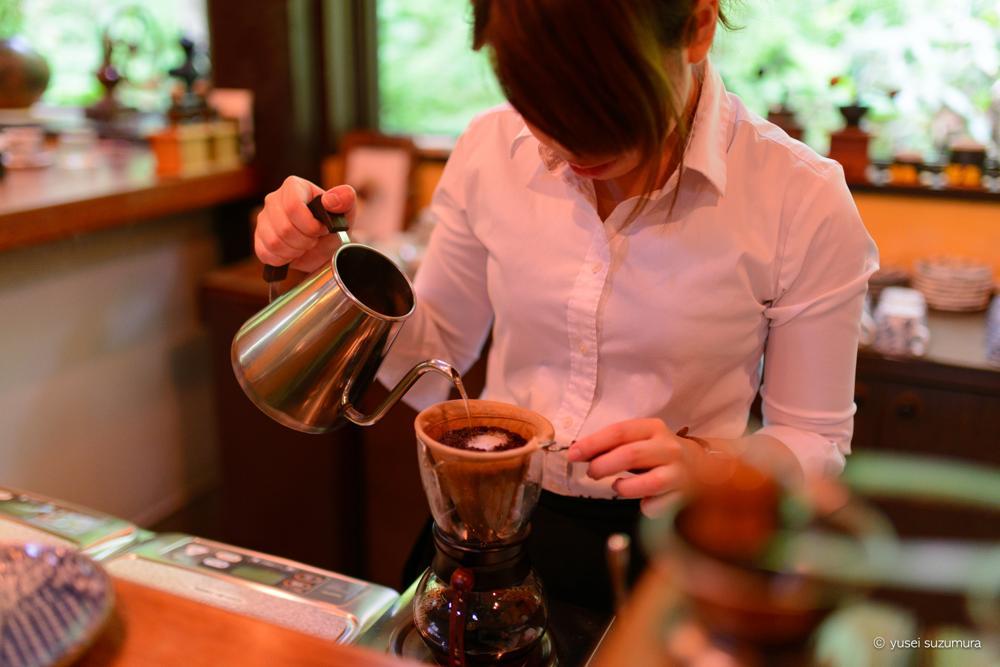 コーヒ入れる