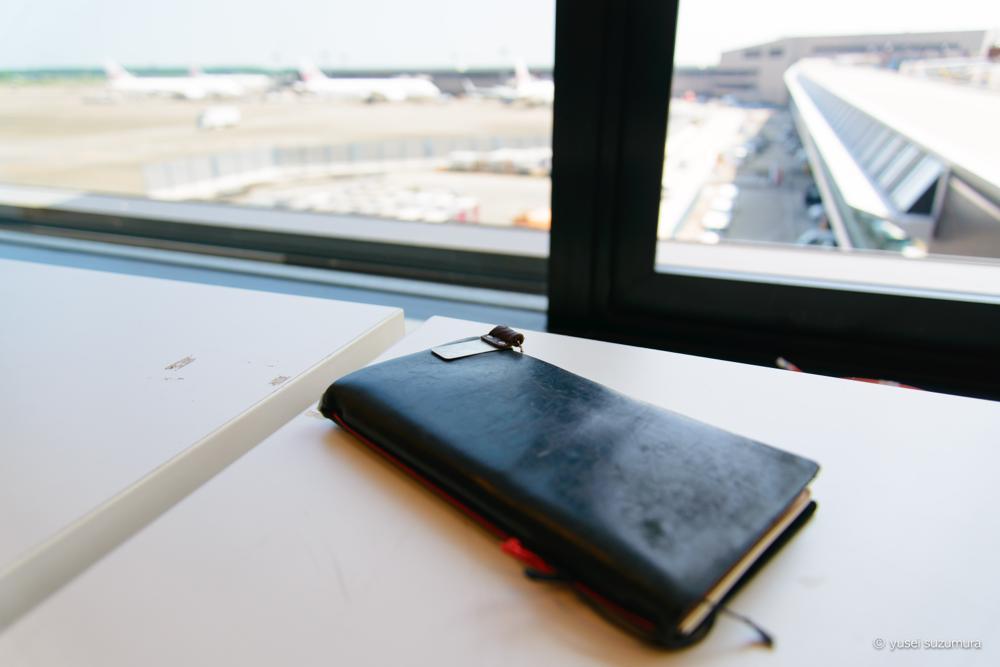 トラベラーズノート in 成田空港