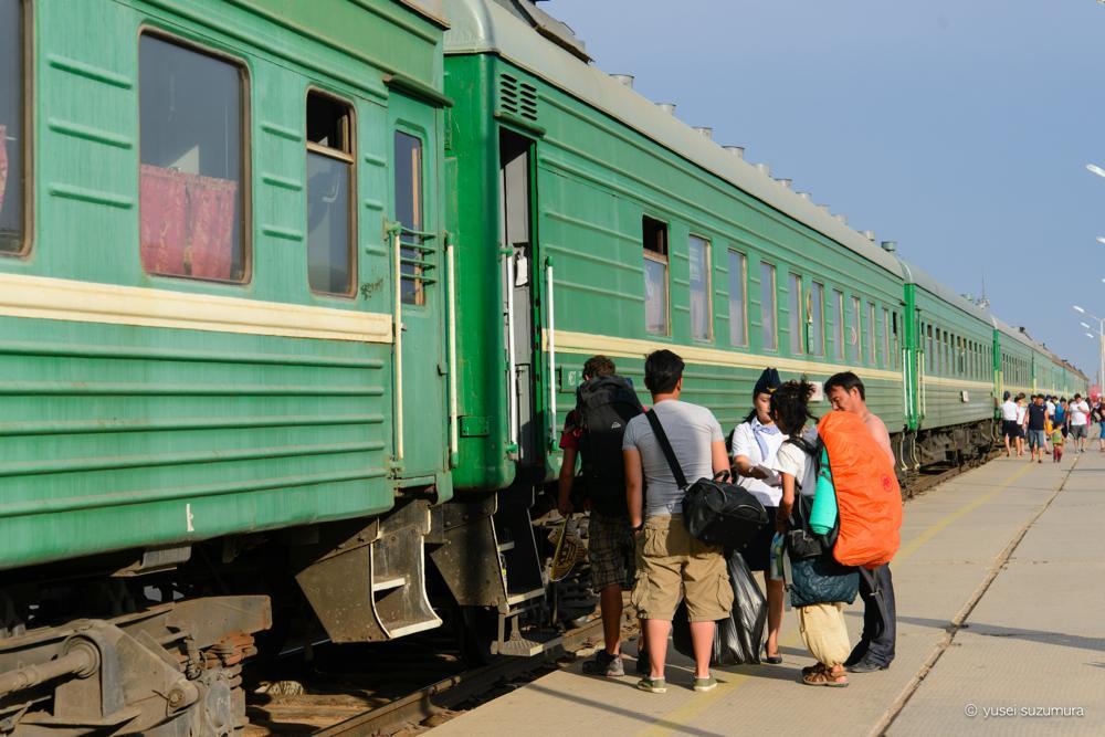 列車に乗車