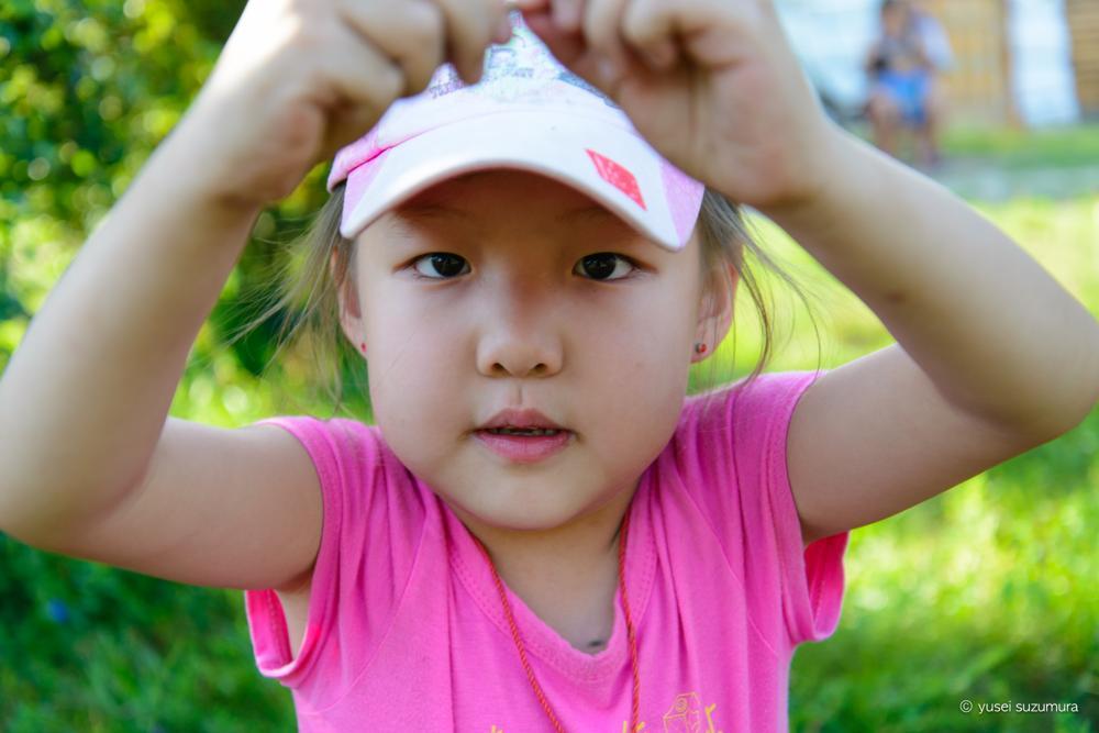女の子、モンゴル