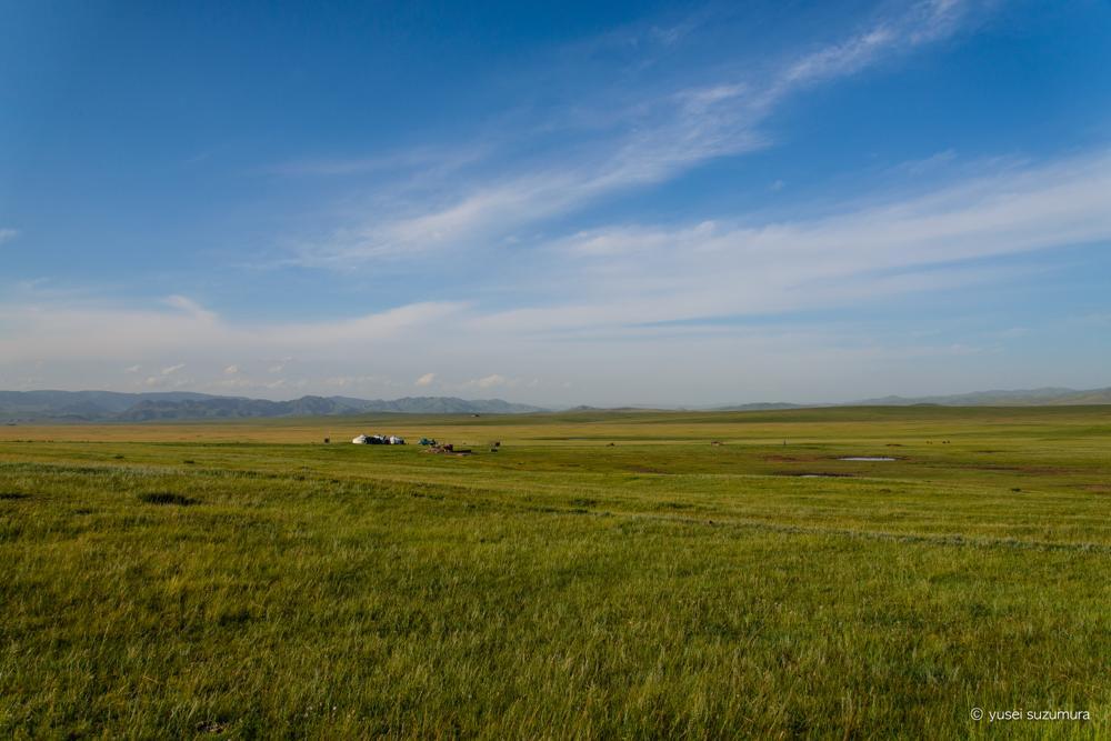 モンゴル 散歩 途中