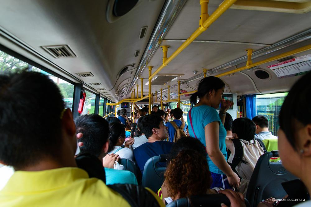 長城行きのバス