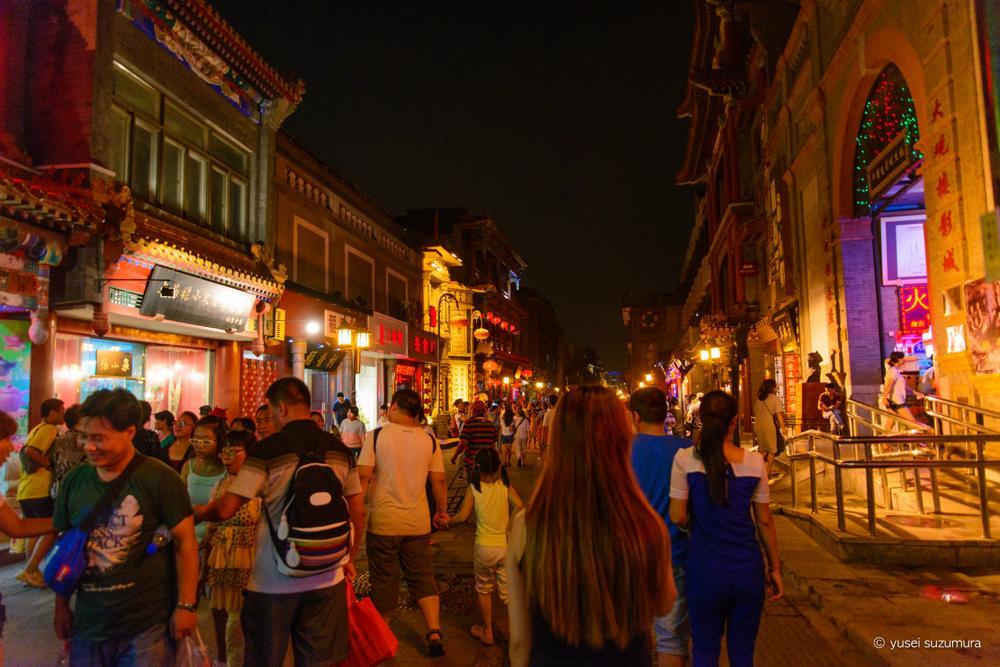 夜の前門大街
