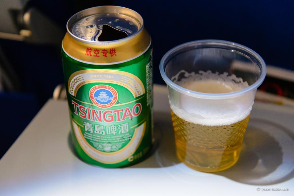 青島ビール 機内