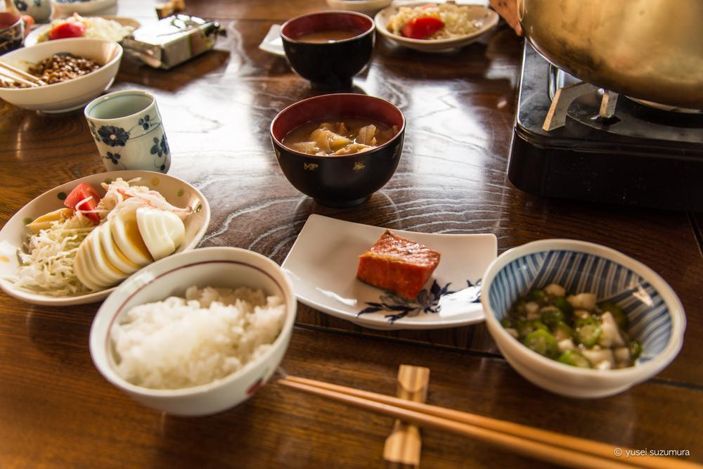 秋田のなか志ま旅館の朝食