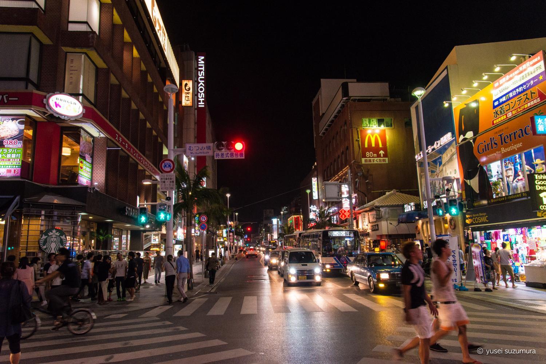 9月の国際通りの夜