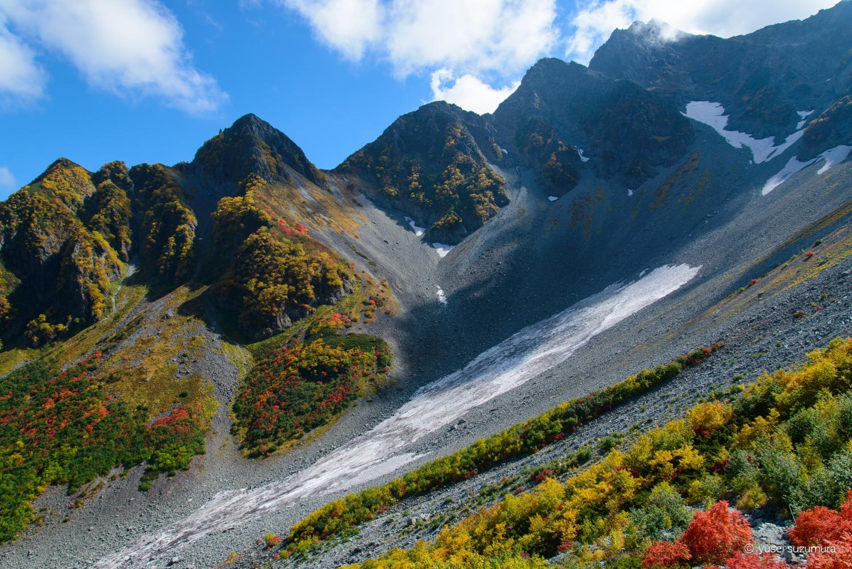 涸沢カールの雪渓