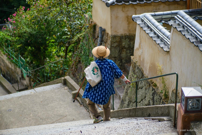 尾道の坂のおばあちゃん