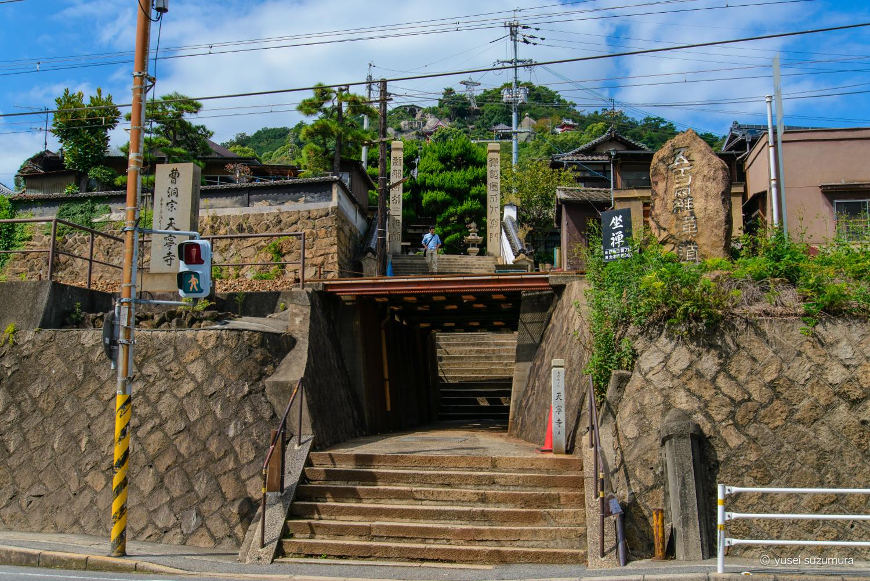 天寧寺の前の線路
