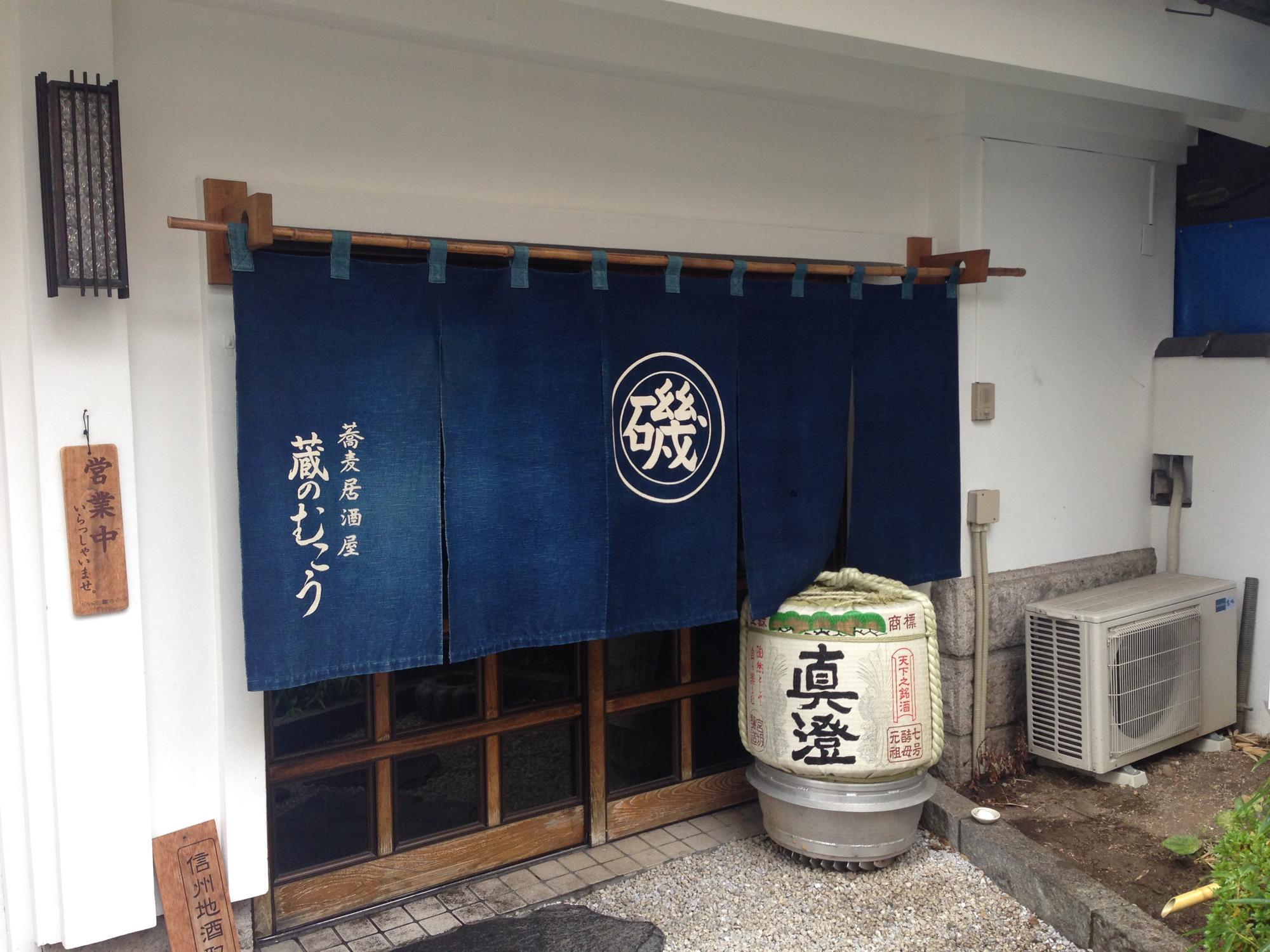 長野の松本にある蔵の向こう