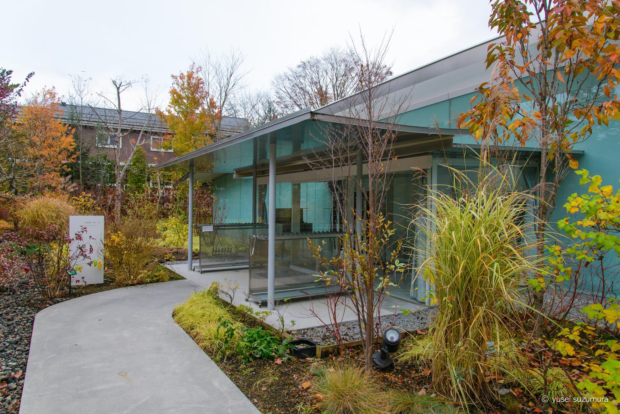 軽井沢千住博美術館の入り口