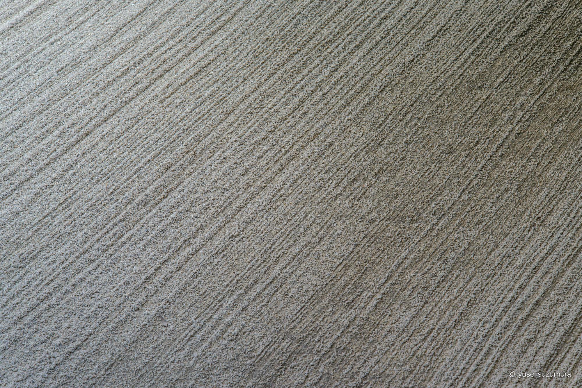 京都の枯山水の砂紋