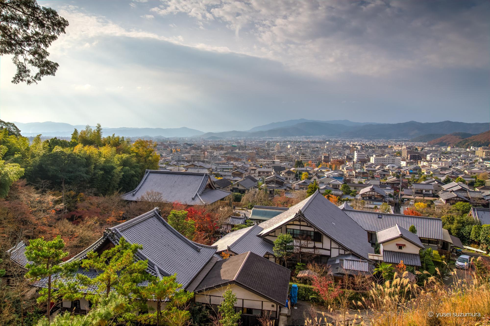 圓光寺 高台からの京都一望