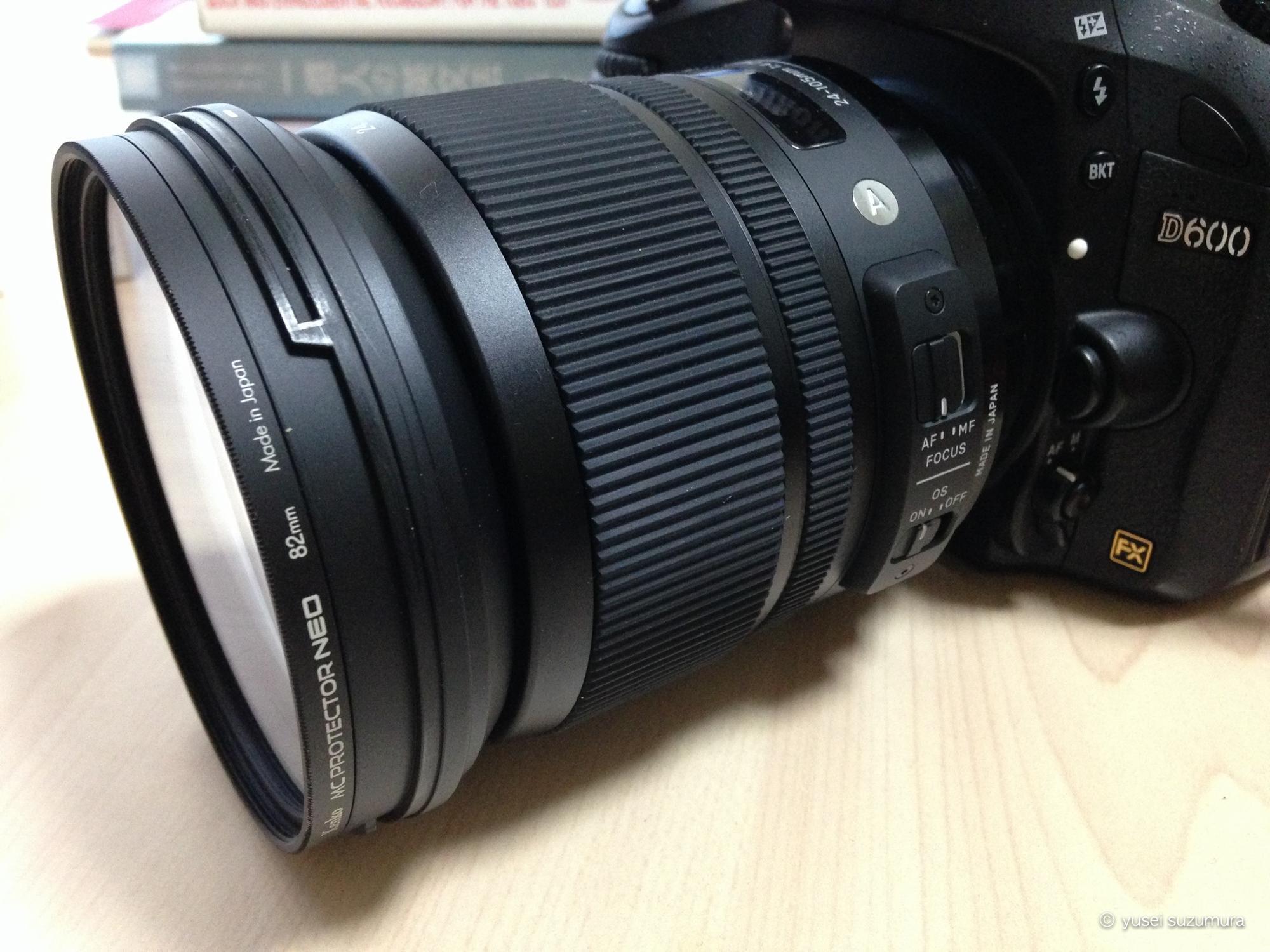 D600につけたKenko MC プロテクター NEO 82mm