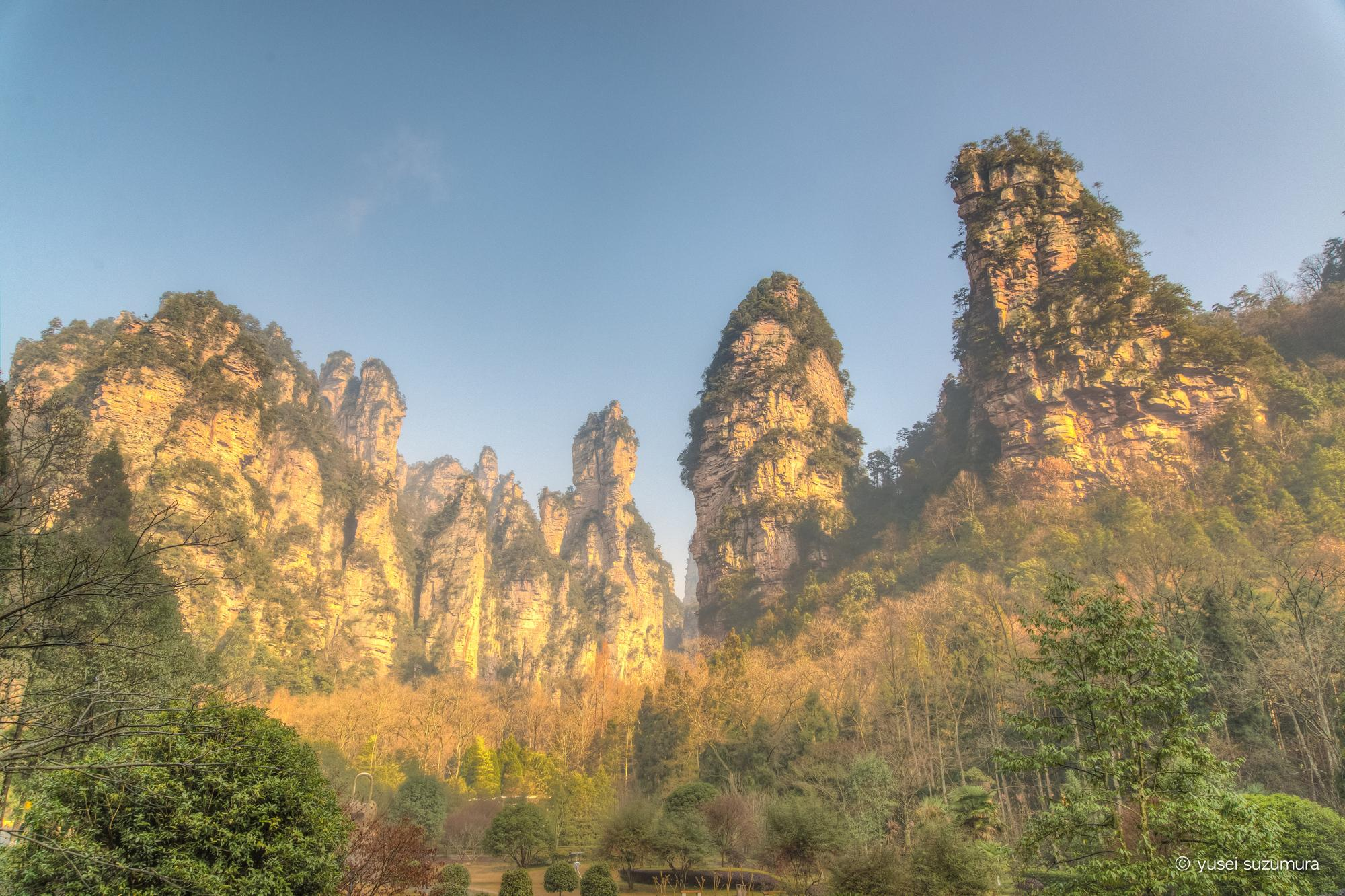 武陵源 入口の景色 絶景