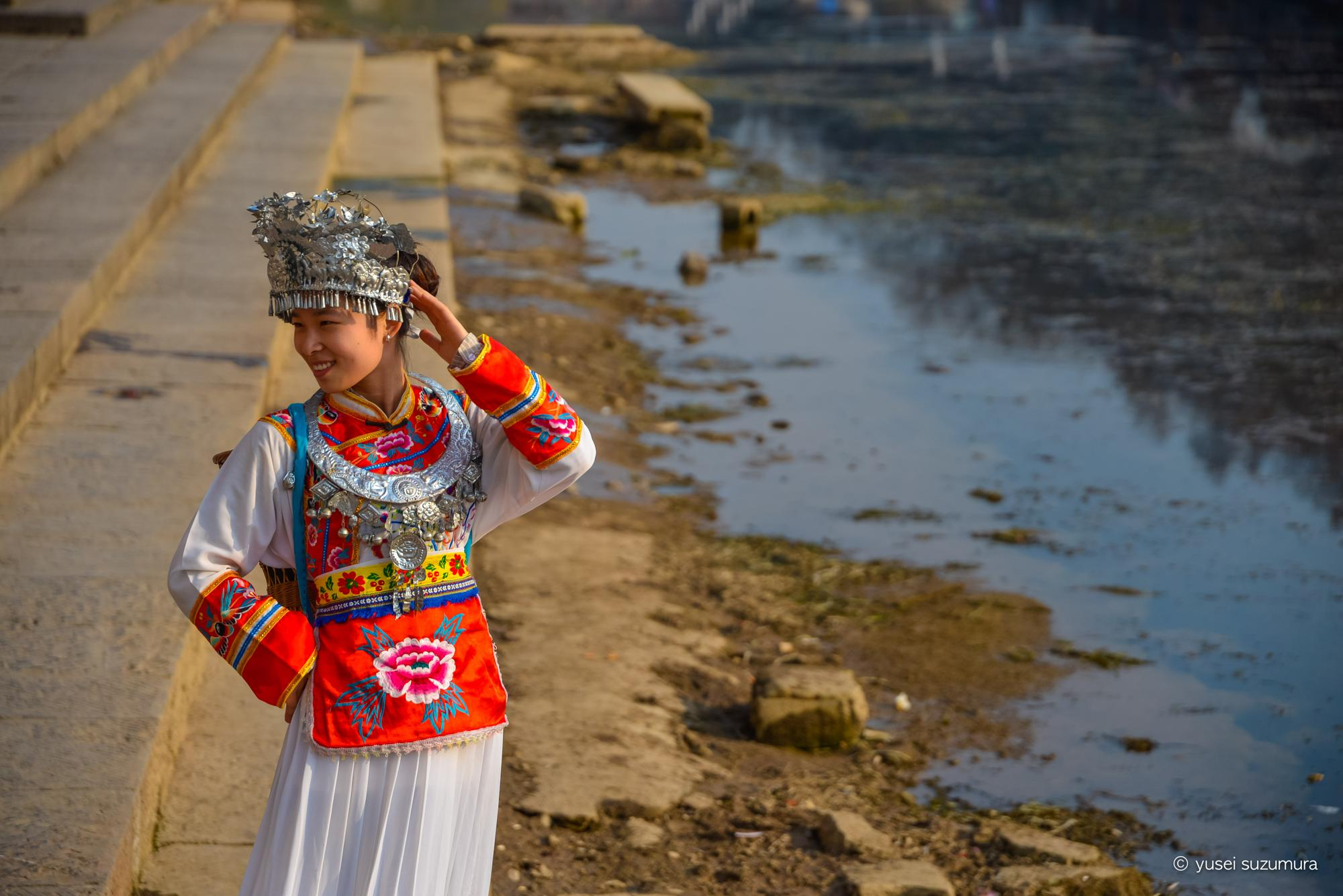 鳳凰古城 女性 コスプレ 民族衣装