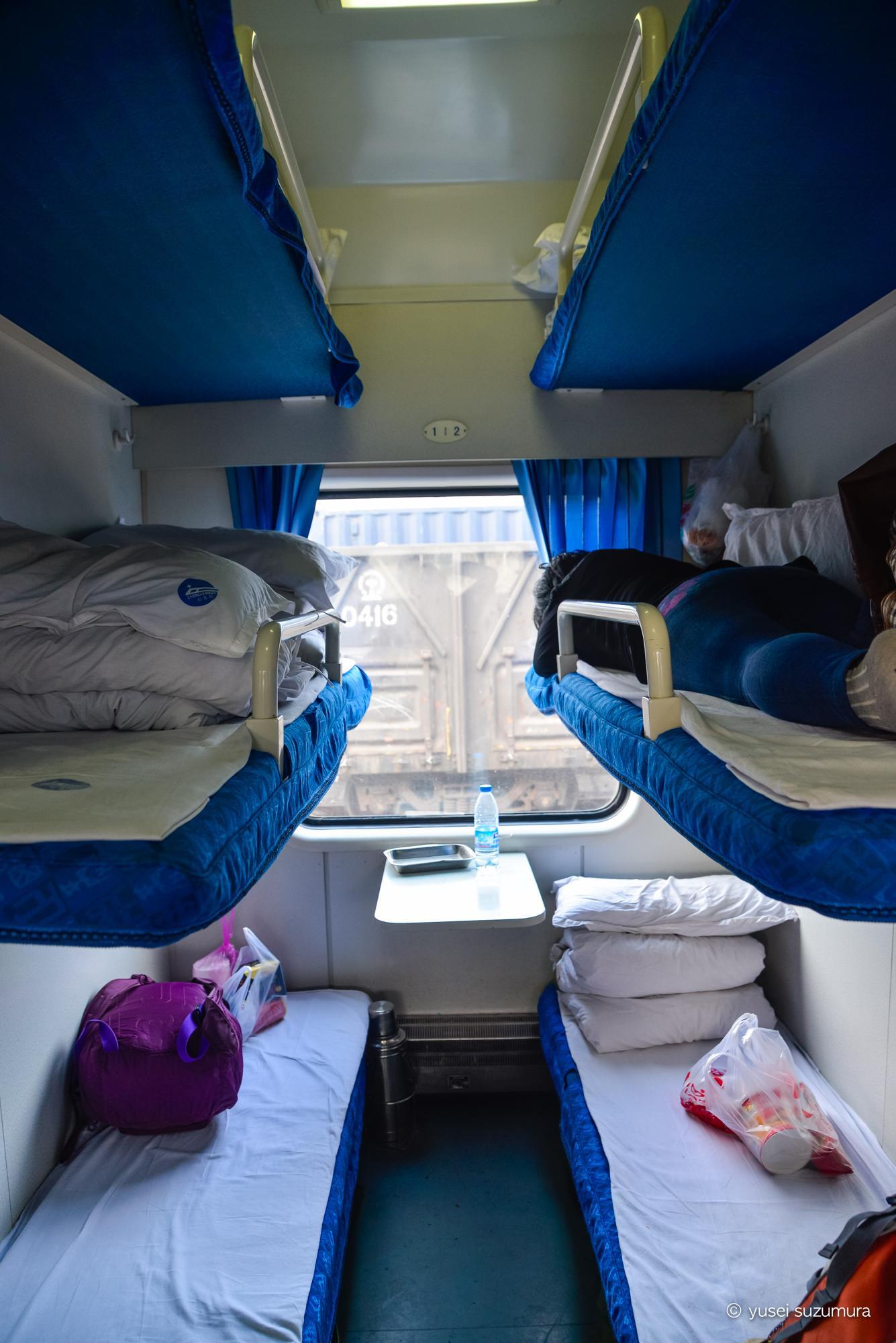中国の寝台列車 内部