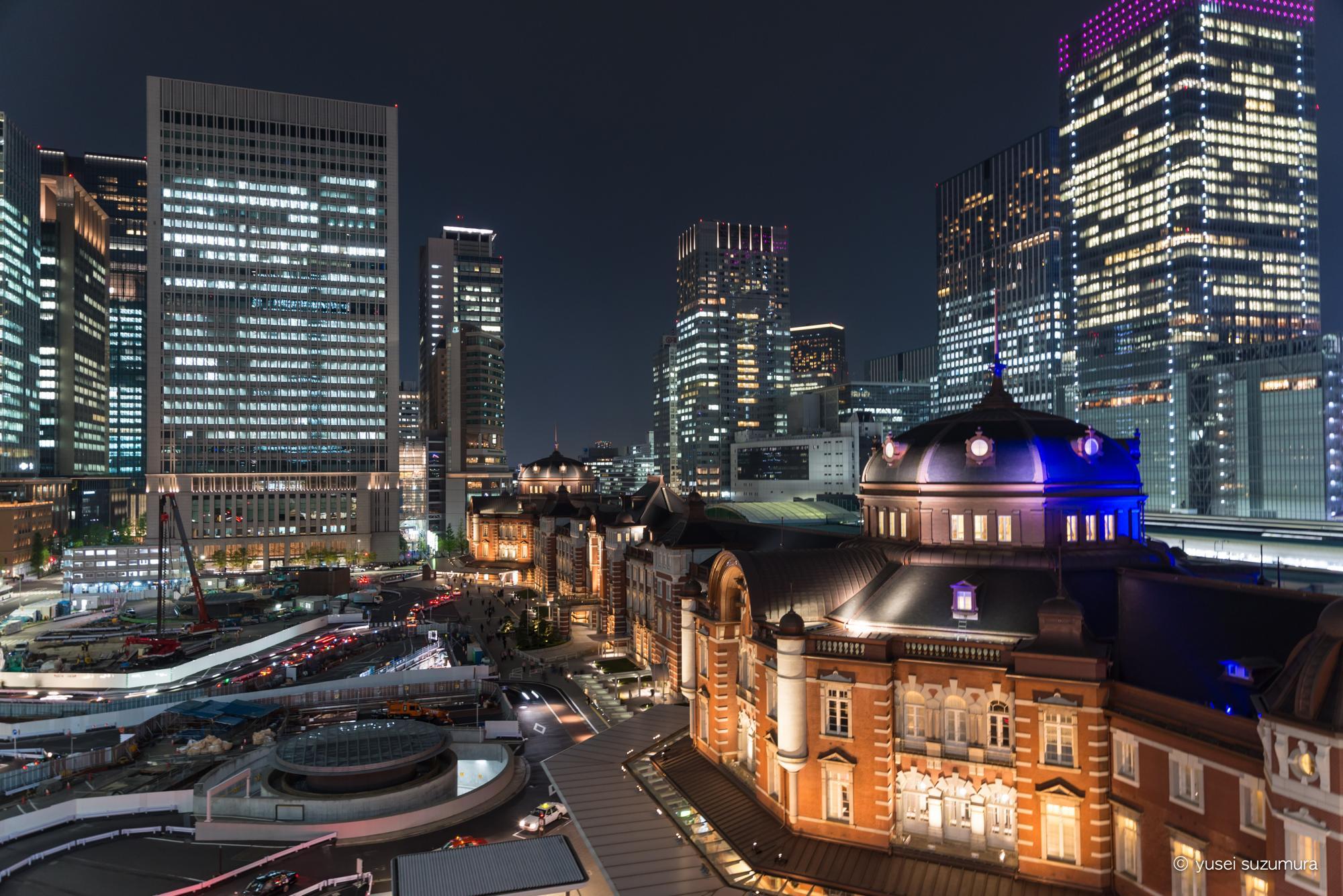東京駅 夜景 D610