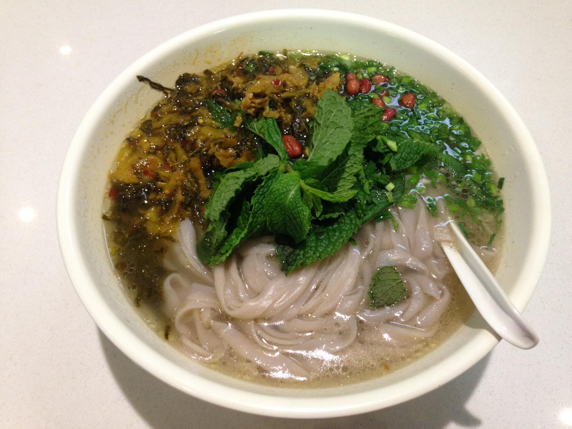 昆明長水国際空港 麺