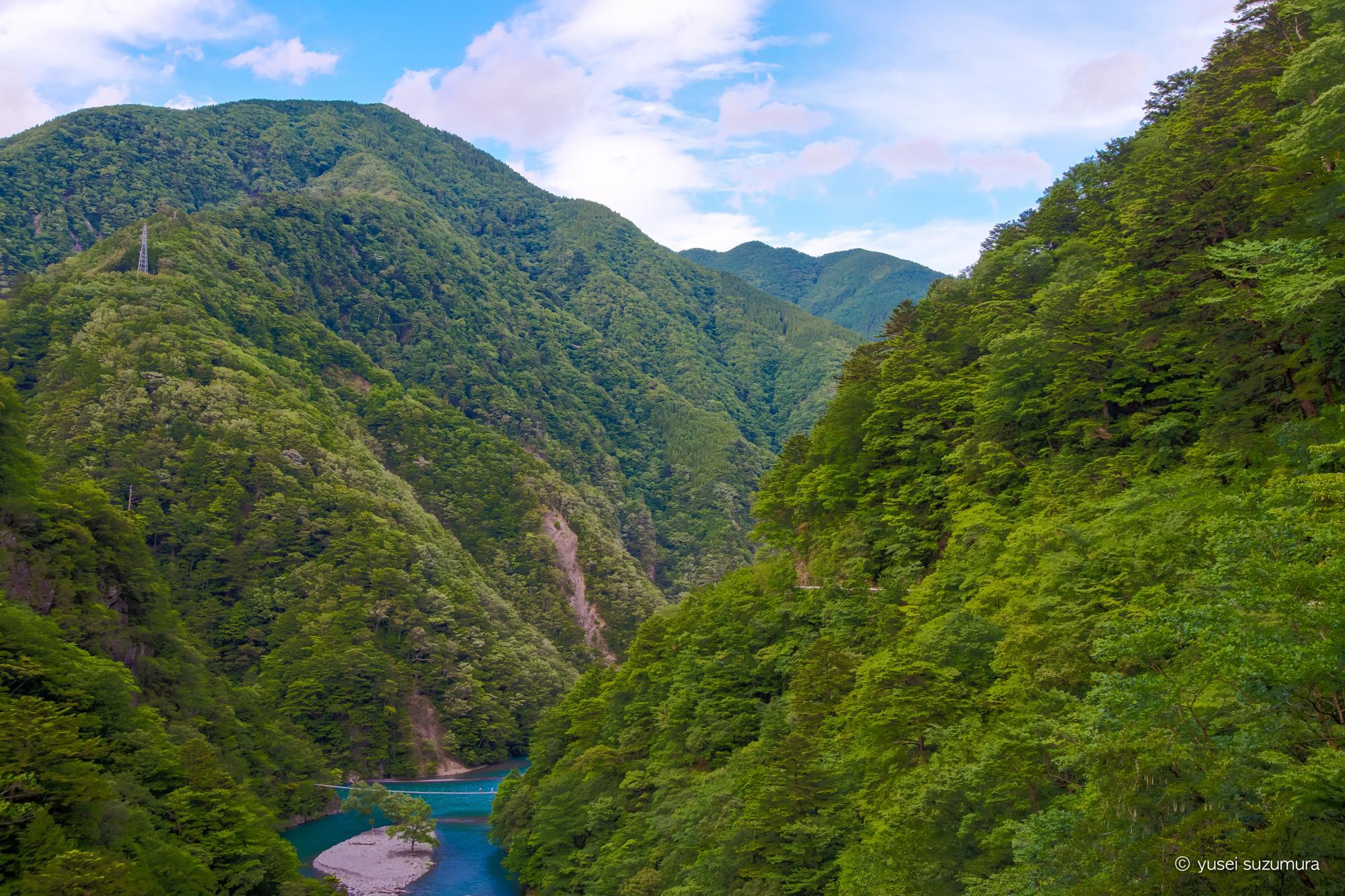 大井川鐵道のSLと寸又峡の夢の吊り橋
