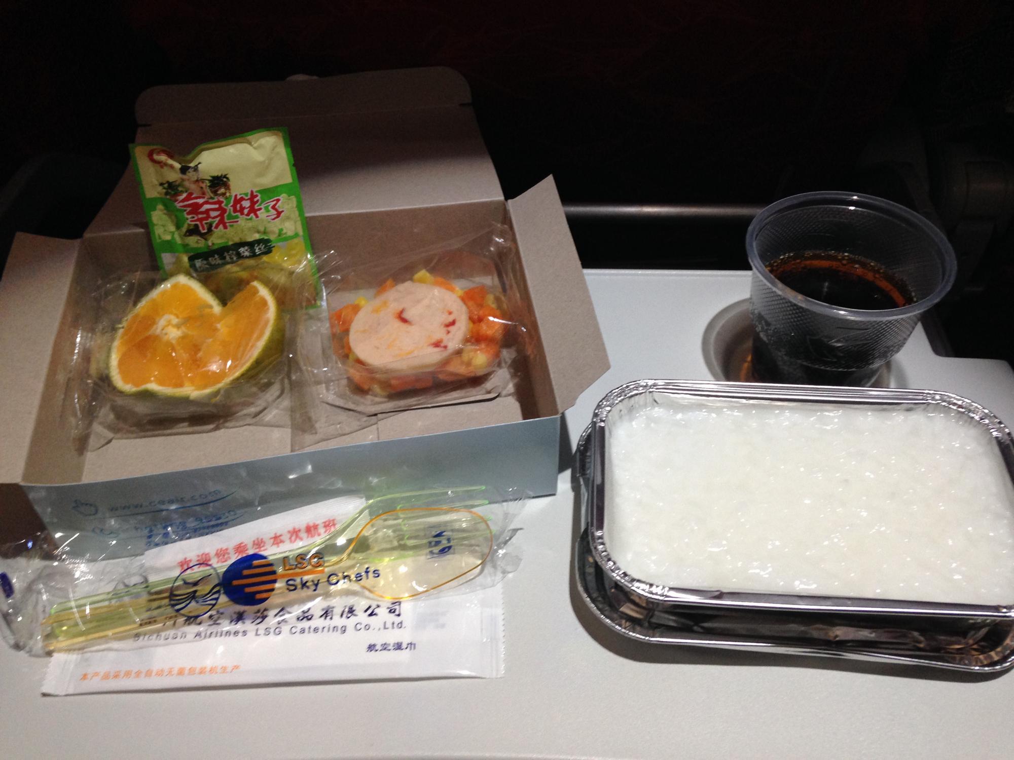 機内食 成都 上海