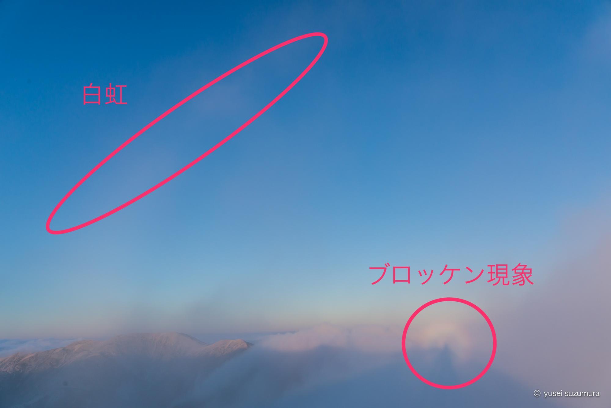 水晶小屋 ブロッケン現象 白虹