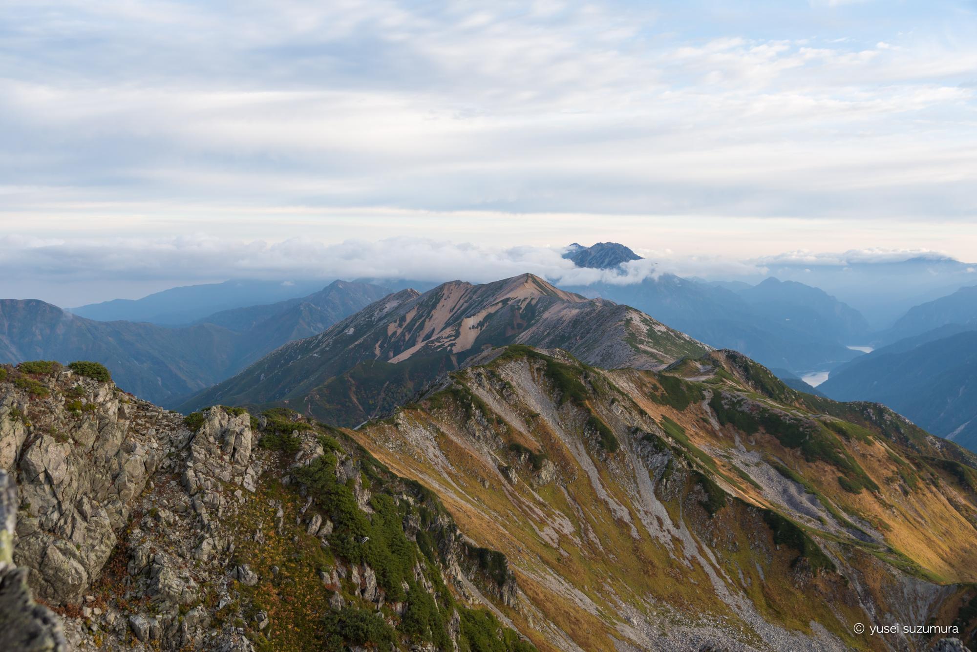 水晶岳 頂上 景色 2