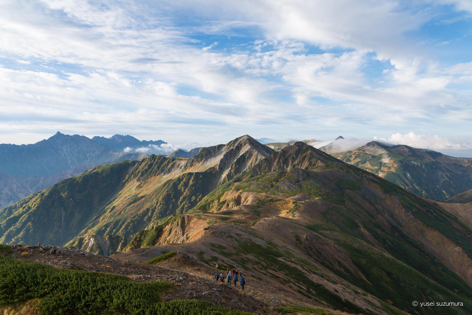 雲ノ平 稜線 景色
