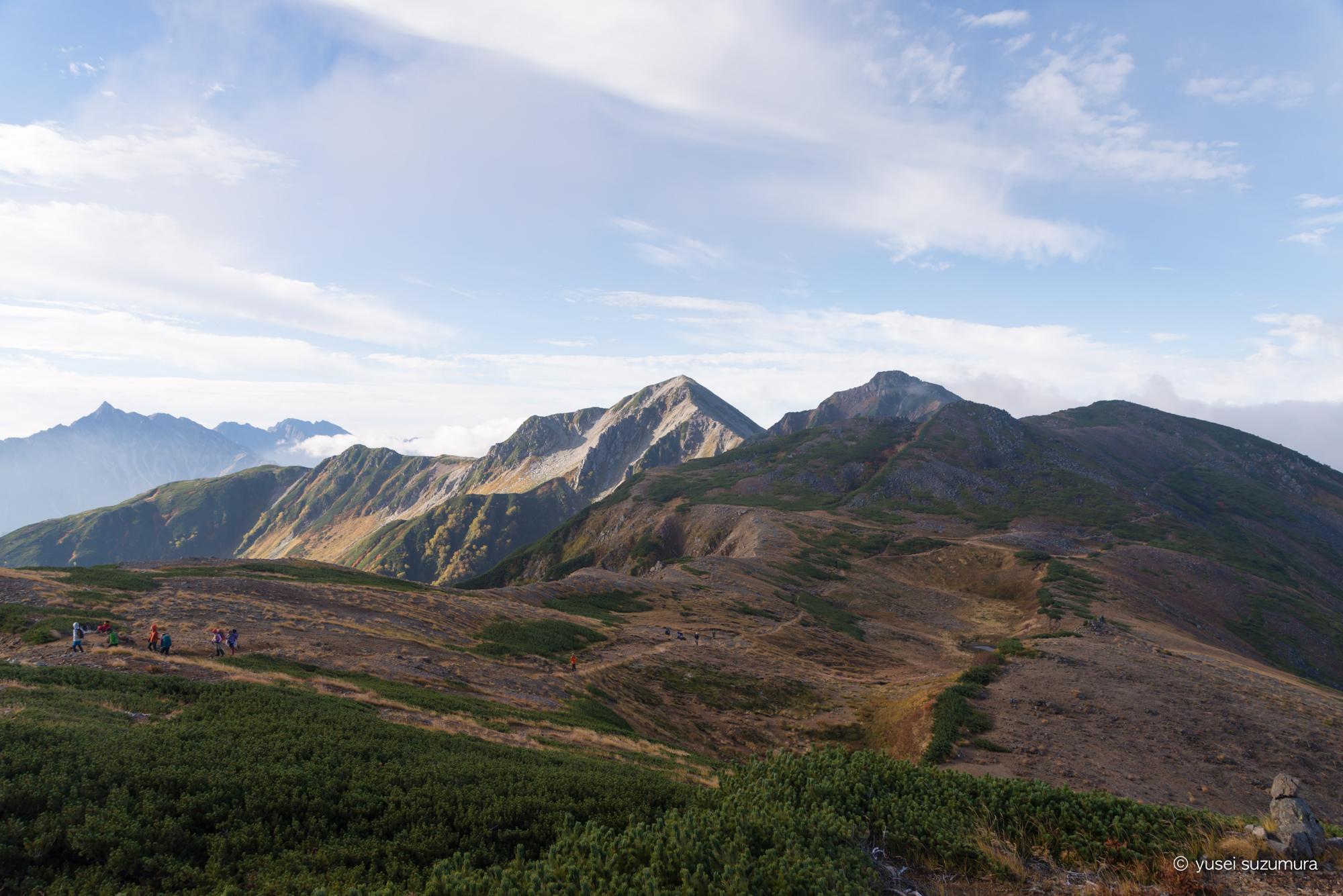 雲ノ平 稜線 景色 2