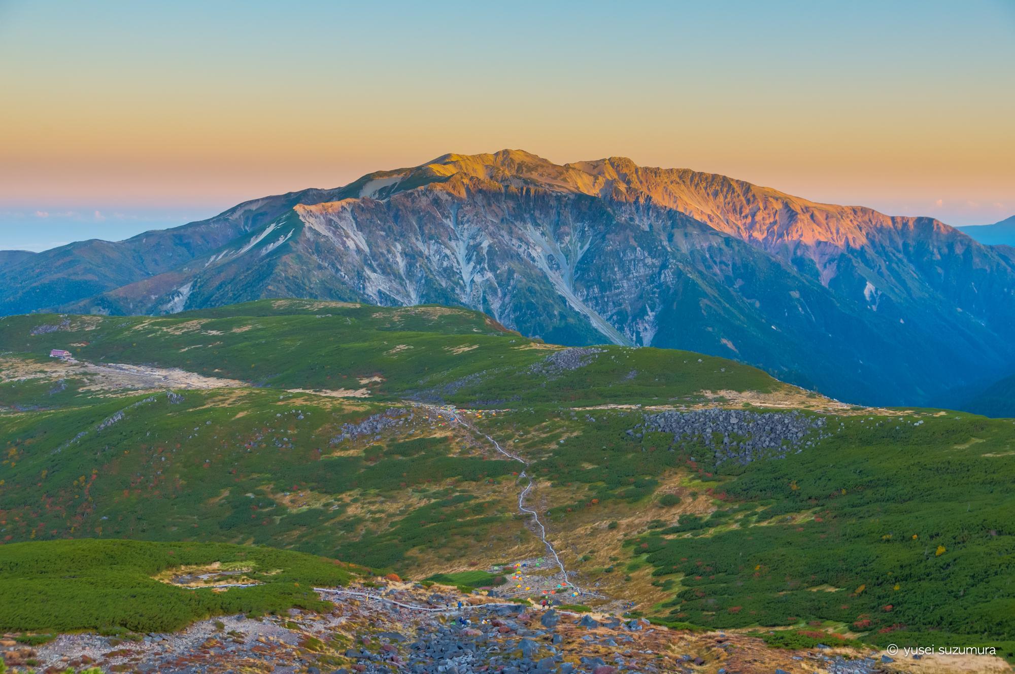 雲ノ平から高瀬ダムまで一日で下山する。