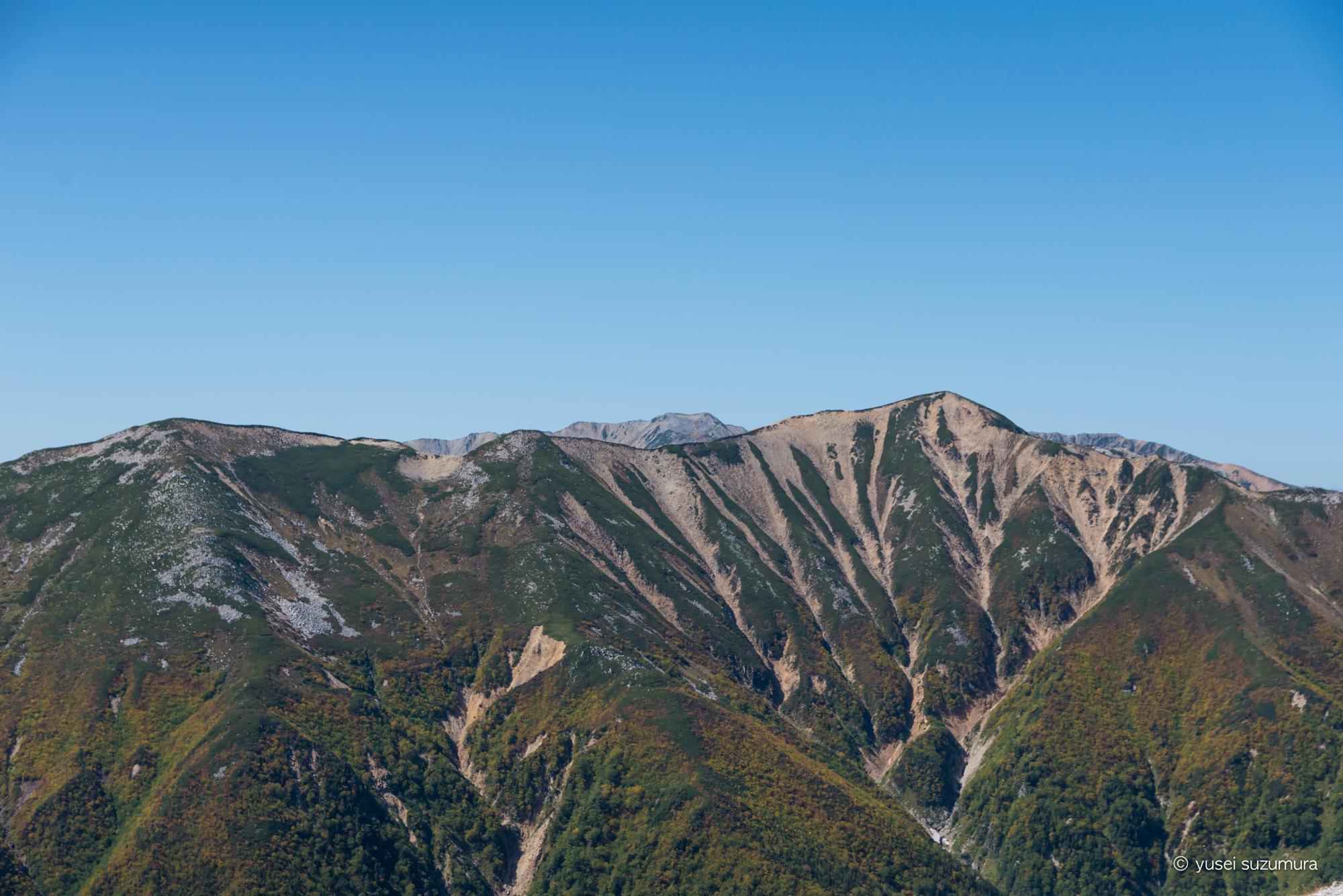 稜線歩き 北アルプス 赤牛岳
