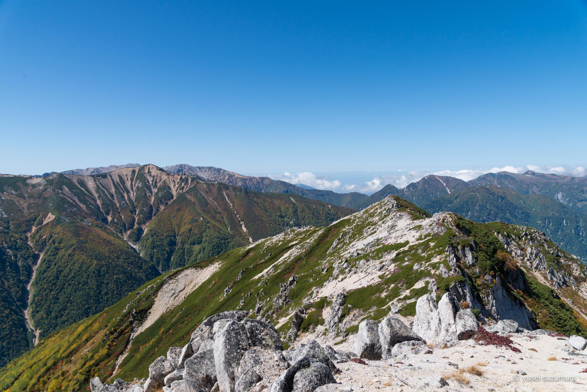 稜線歩き 北アルプス 3