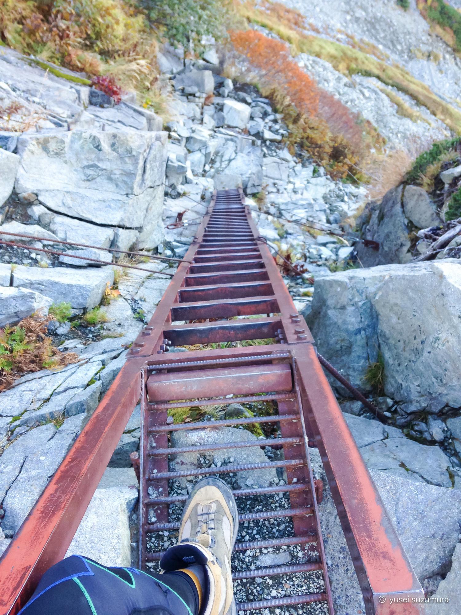 北穂高 はしご