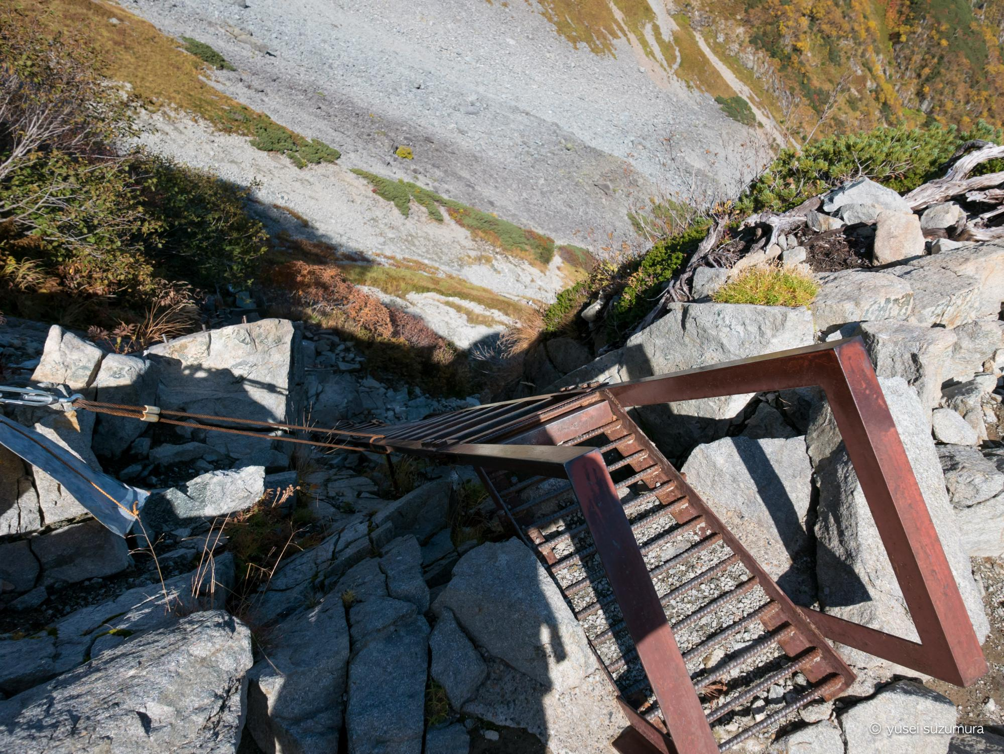 北穂高 ルート はしご