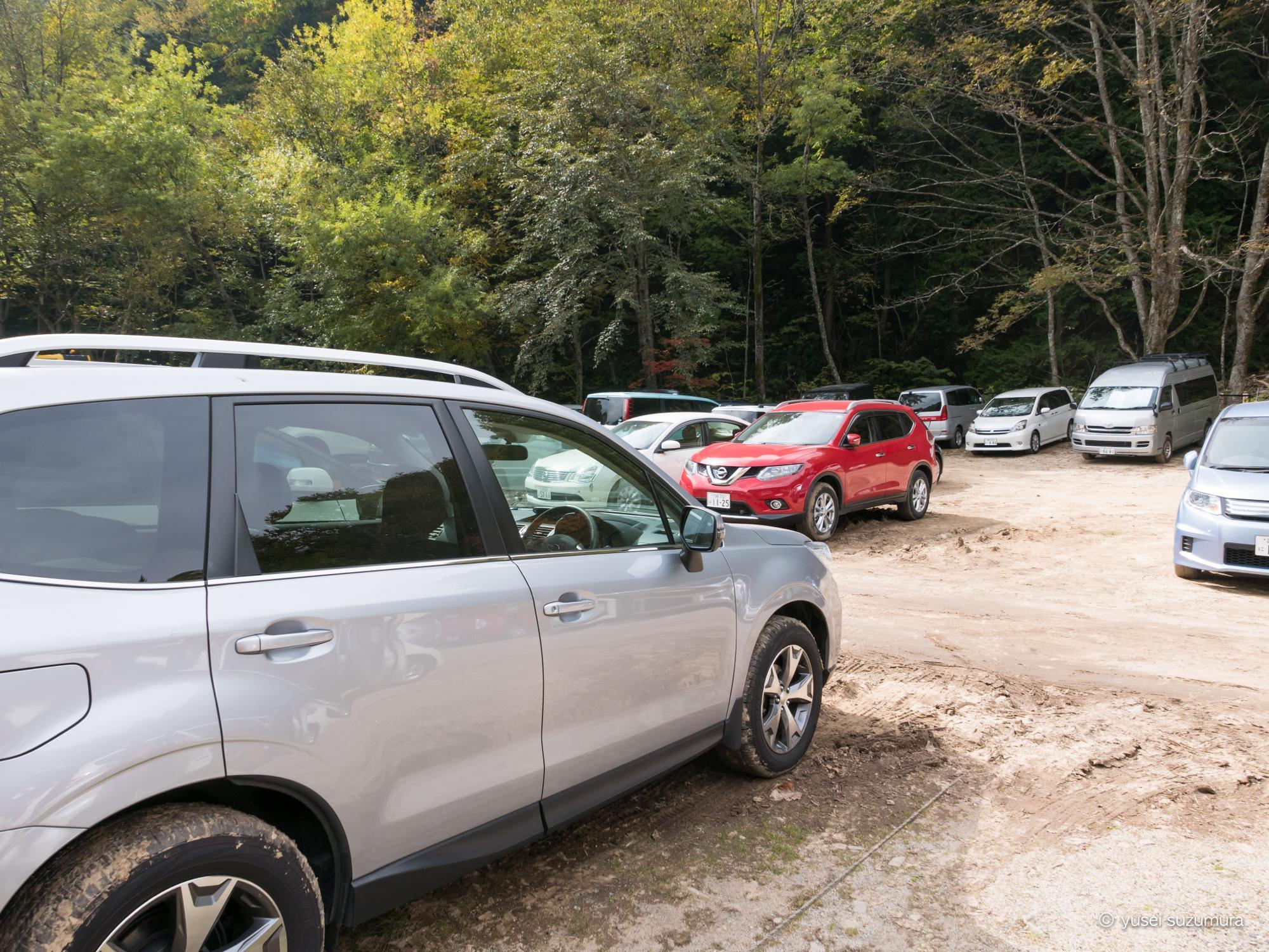 燕岳 登山口 駐車場