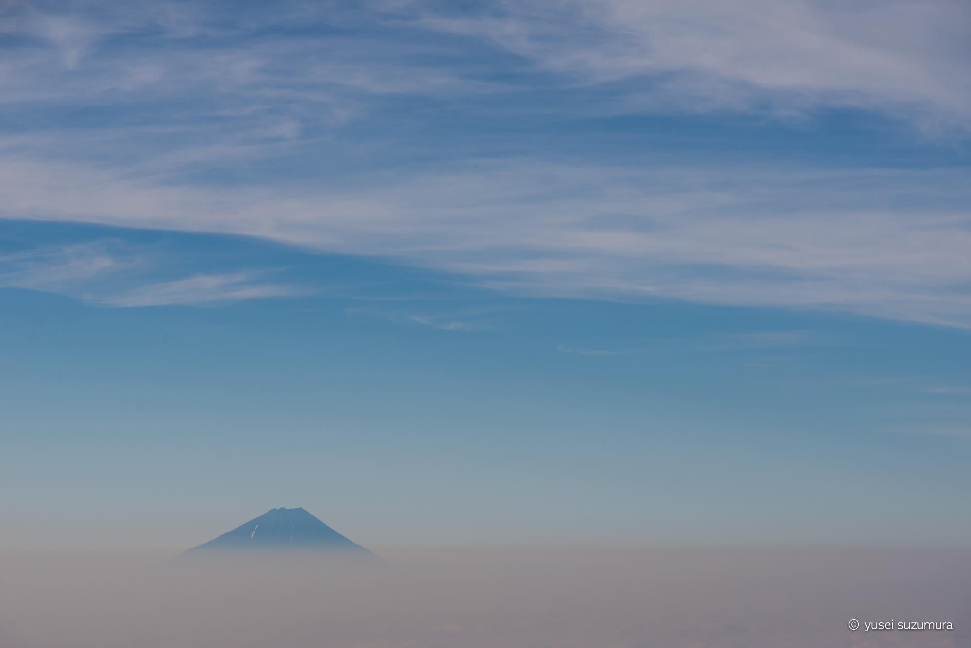 富士山 八ヶ岳 早朝