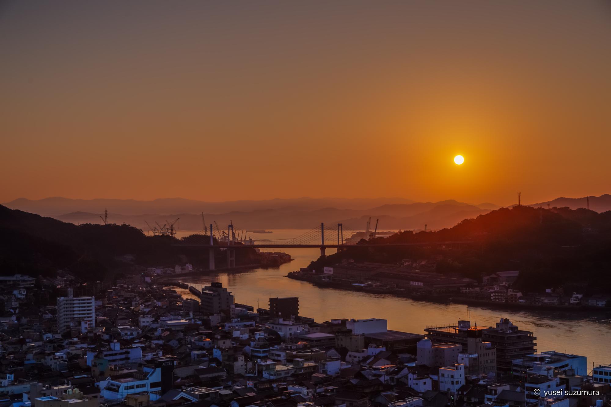 尾道と朝日