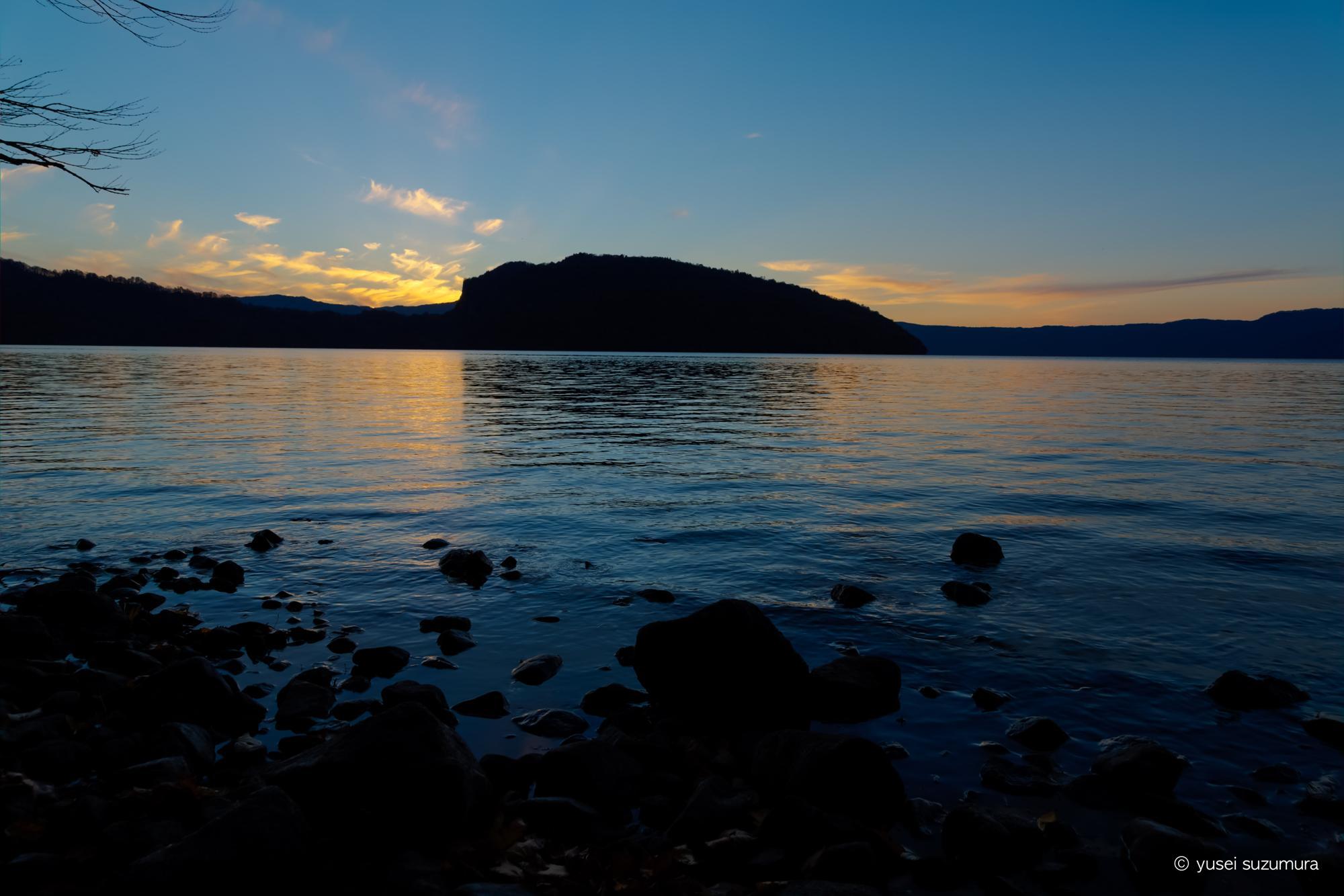 十和田湖 夕焼け
