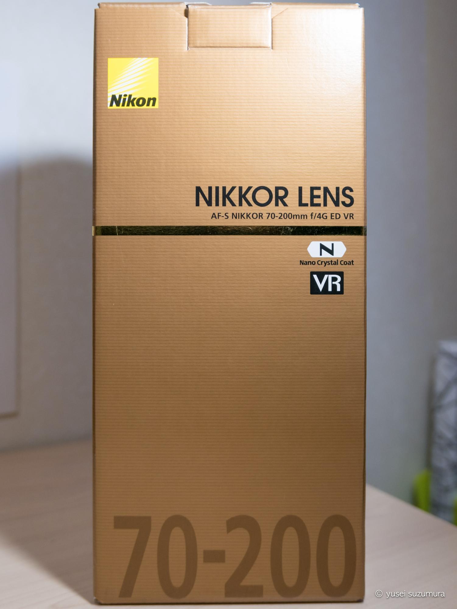 AF-S NIKKOR 70-200mm f/4G ED VRの箱