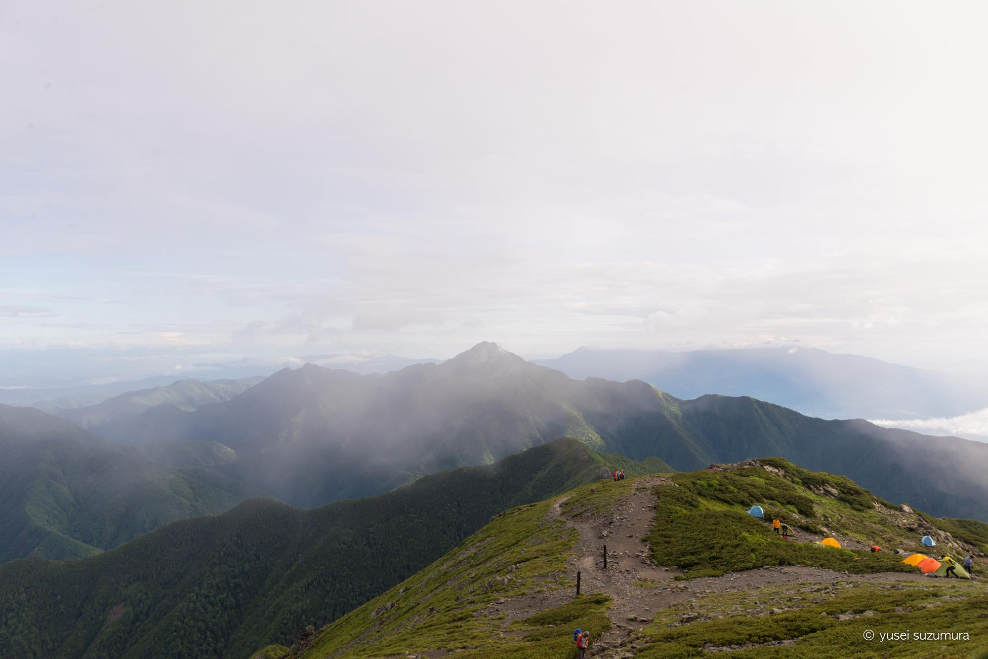 北岳 下山