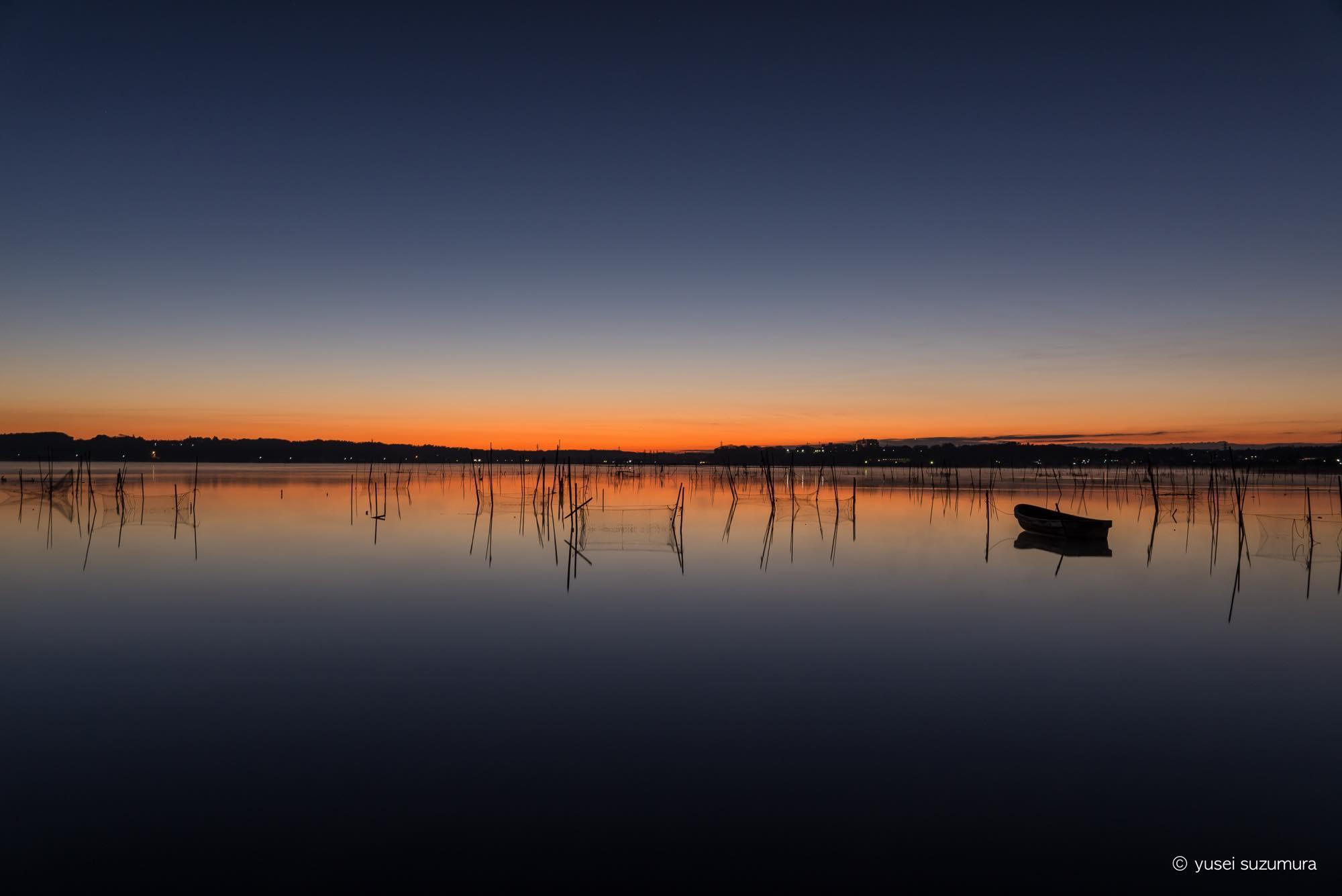 印旛沼 夜明け