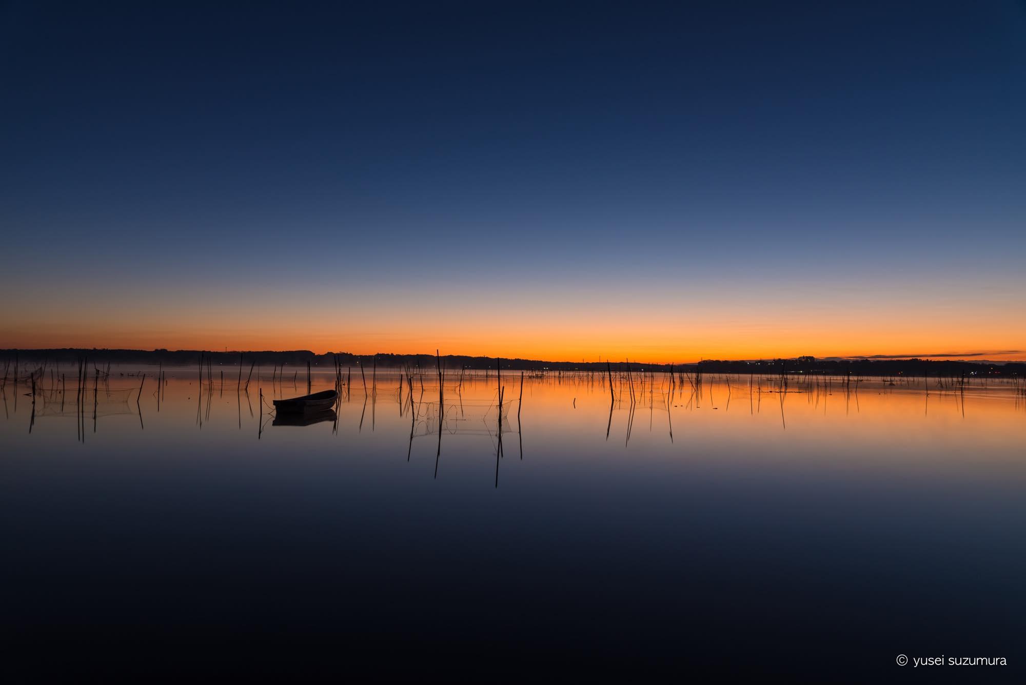 夜明け 印旛沼