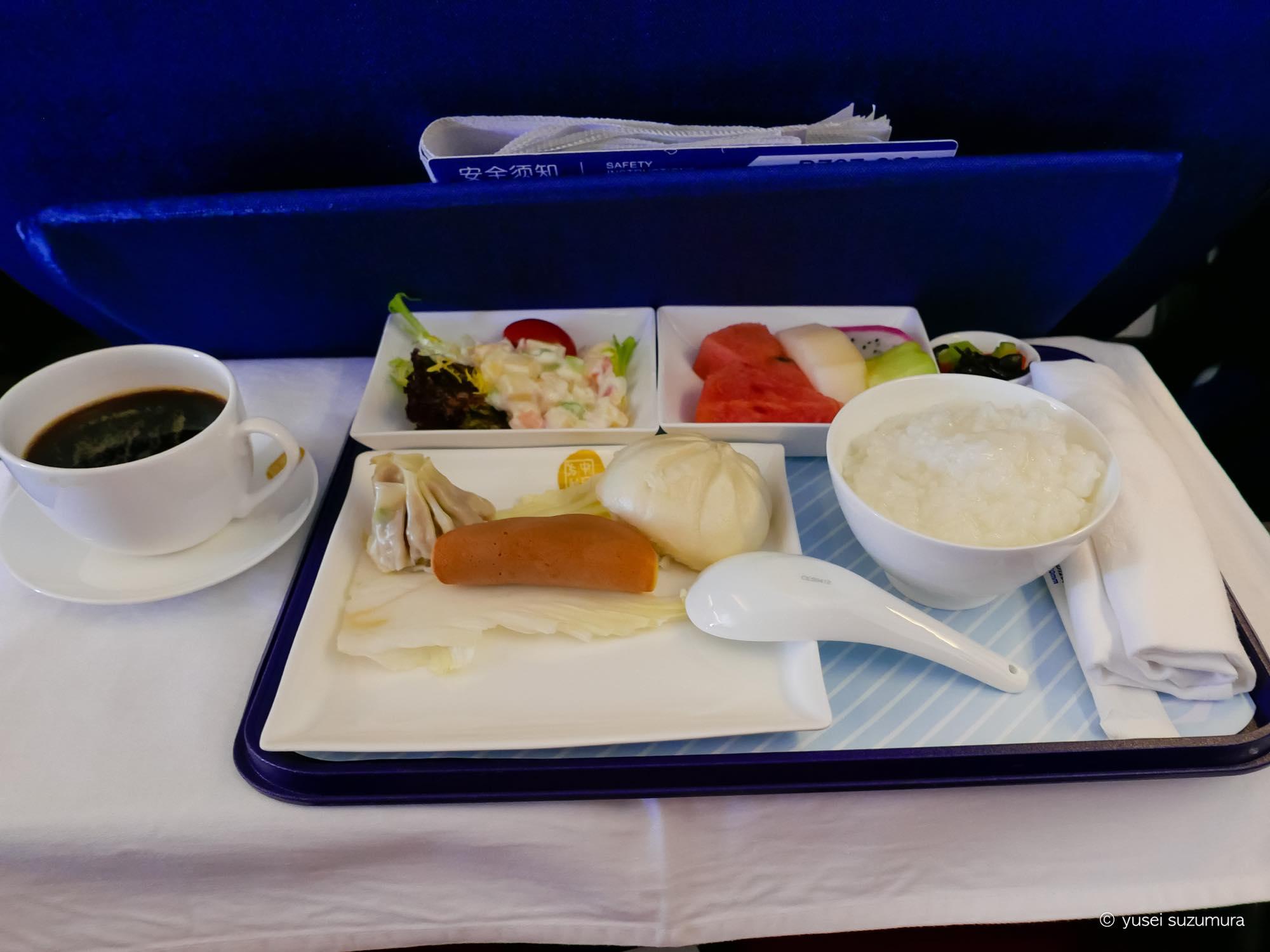ビジネスクラス 東方航空 機内食