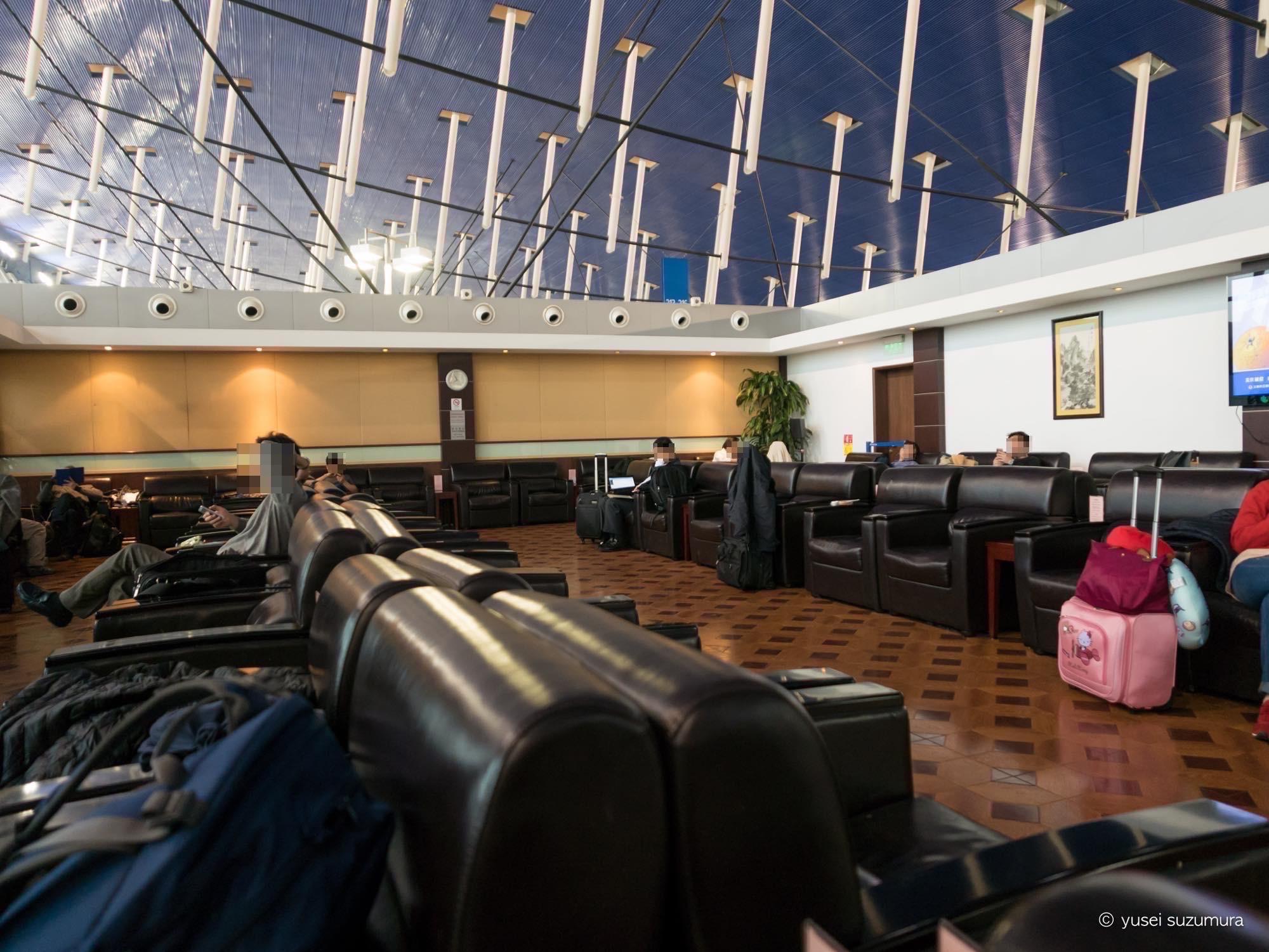 上海浦東空港第1ターミナル ラウンジ