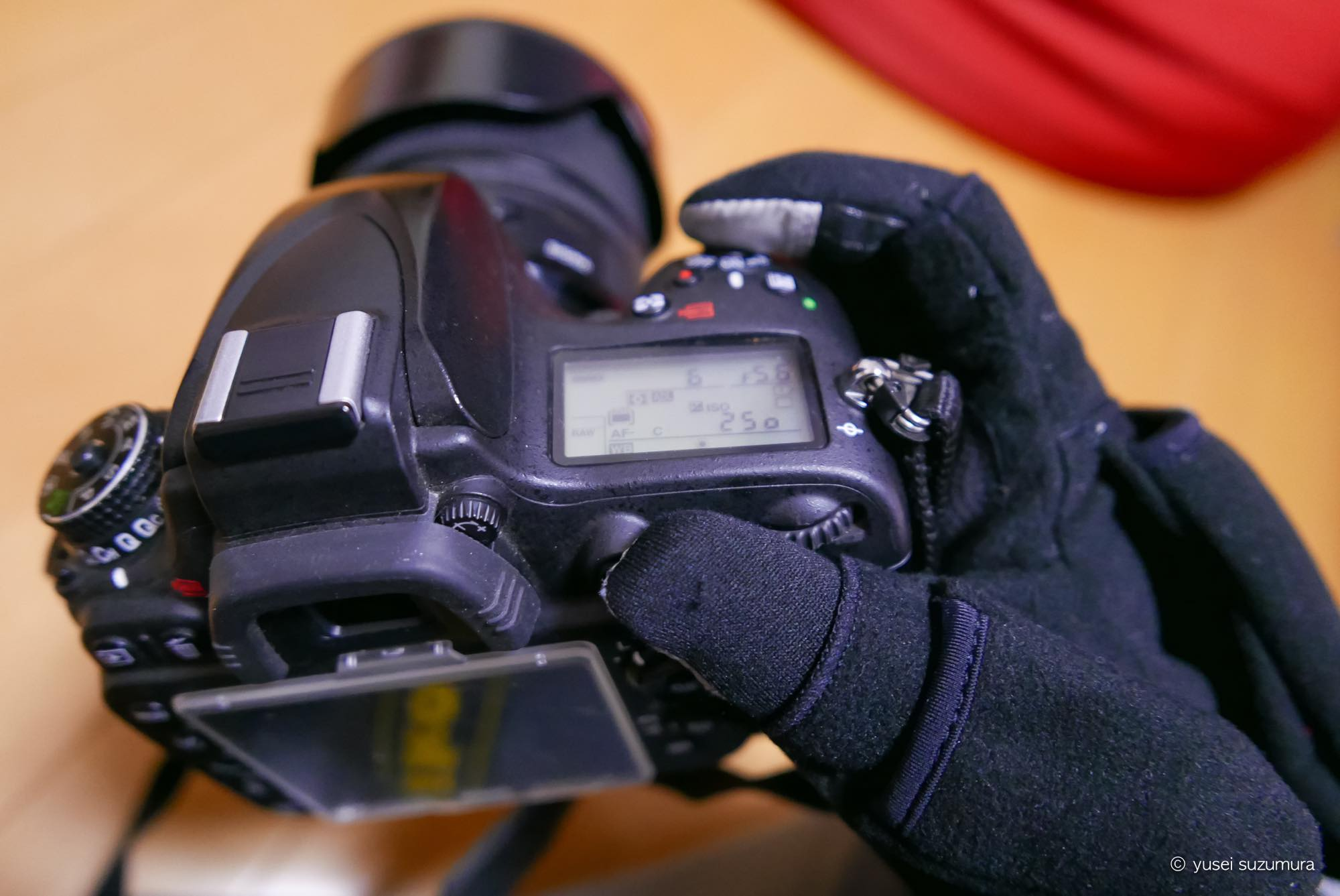 写真撮影 手袋