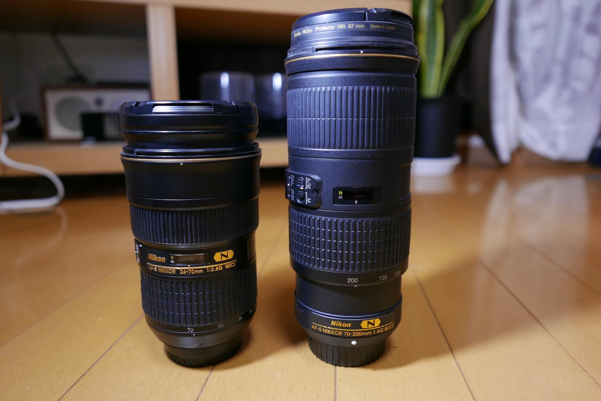 NIKKOR 24-70mm f/2.8E ED AF-S NIKKOR 70-200mm f/4G ED VR
